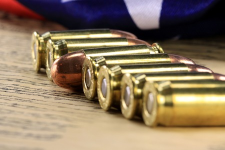 casings: Right to keep and bear arms Stock Photo