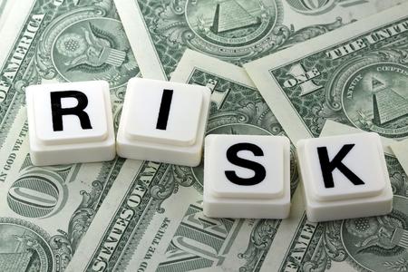 Het Woord risico - Een term die wordt gebruikt in Business, Finance en Tax Concept Stockfoto