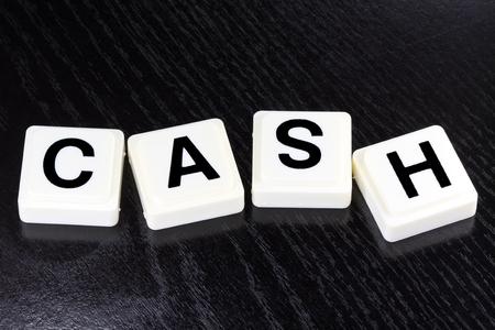 Het Woord in contanten - Een term die wordt gebruikt voor het bedrijfsleven, financiën en belastingen Concept