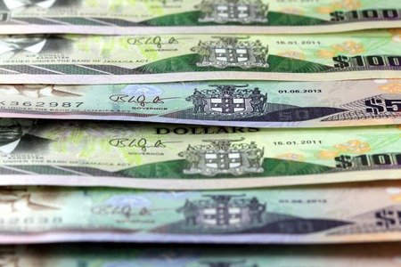 Jamaica currency - Banking and economic stability concept