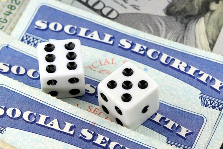 Gambling on social security benefits and retirement income Stok Fotoğraf
