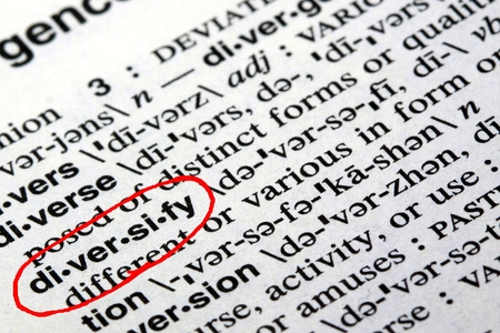 Het woord diversifiëren in het Engels woordenboek