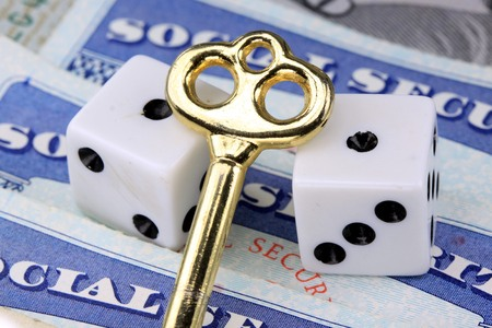 Gambling on social security benefits and retirement income Stockfoto
