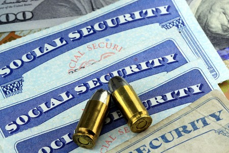The End or Death of social security benefits Stockfoto