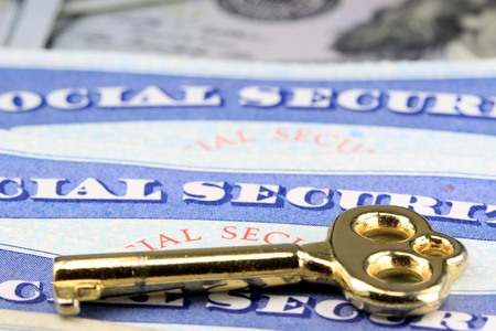 The key to social security benefits - Retirement income concept