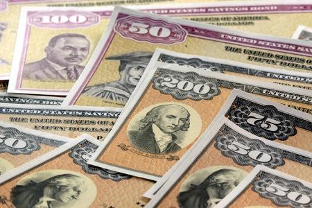 United States Treasury Savings Bonds - Investment banking concept