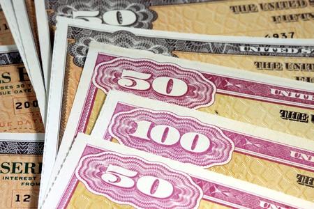 treasury: United States Treasury Savings Bonds - Investment banking concept
