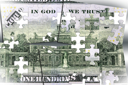 American currency one hundred dollar bill - Finance and banking concept