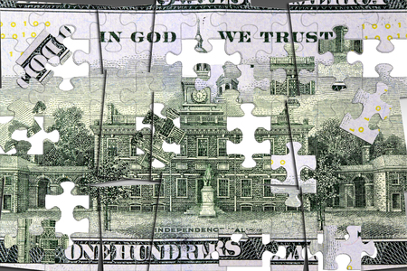 Amerikaanse munt honderd dollar bill - Finance and banking-concept Stockfoto