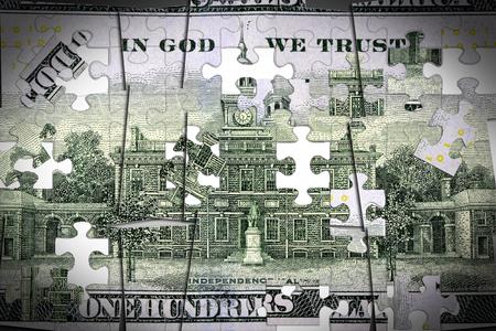 Amerikaanse munt honderd dollar bill - Finance and banking-concept Stockfoto - 73078488