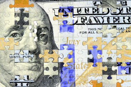 Amerikaanse munt honderd dollar bill - Finance and banking-concept Stockfoto - 73337687