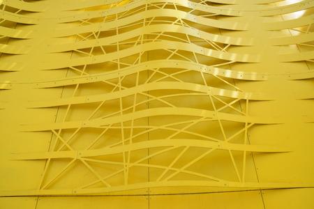 노란색 건물 디자인입니다.