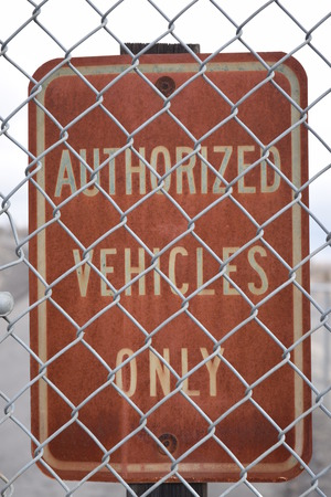 Authorized vehicle only sign in Grand Coulee. Reklamní fotografie