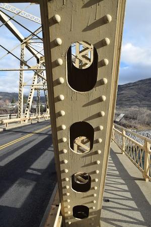 컬럼비아 댐 다리에 다리 세부 사항입니다.
