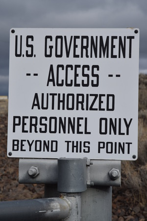 access restricted: Us Government sign in Coulee Dam.