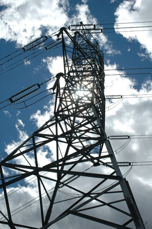 electrical tower: Electrical tower.