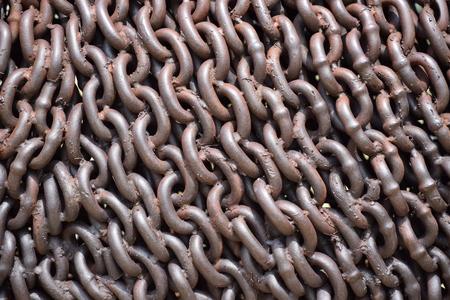 Rusty welded chain. 版權商用圖片