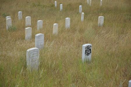 리틀 빅혼 전투 묘지.