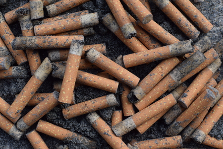 Cigarette Butts. 스톡 콘텐츠 - 95964549