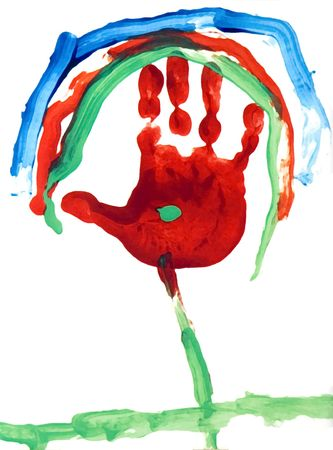 Handprint Fingerpaint photo