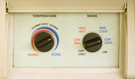 Air Conditioner Controls in Hotel Room