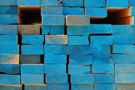 Lumber at a Construction Site