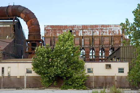 midwest usa: Abandoned Factory - Copper smelter in the midwest USA. Stock Photo