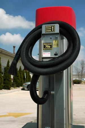 Vacuum, car wash.  Hang Hose Here Reklamní fotografie