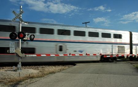 Railroad Crossing, Train     Reklamní fotografie