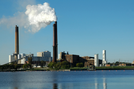 particulate: Power Plant, Lakefront, horizontal view