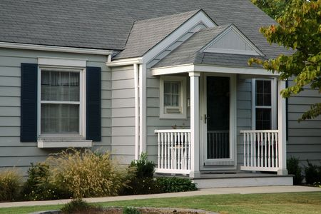 modest: A modest home in the midwestern region of USA Stock Photo
