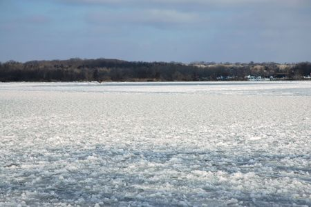 Frozen River, Midwestern USA