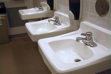 washroom: Ba�o p�blico, Fregaderos - horizontal