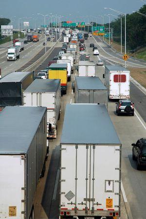 Traffic Jam on the Interstate