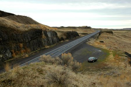 channeled: Channeled Scablands, SE Washington State Stock Photo