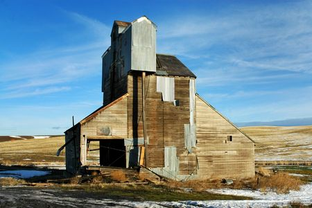 Old Grain Tower, in the Inland Northwest, Horizontal Imagens