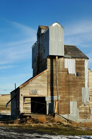 Old Grain Tower, in the Inland Northwest, Vertical
