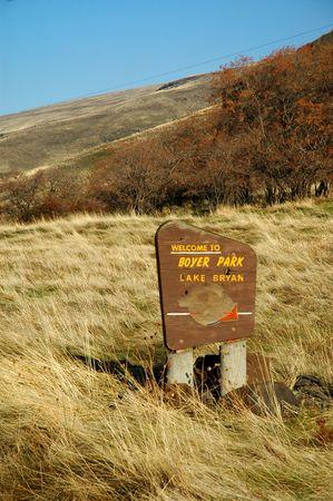 southeastern: Boyer Park sign, southeastern Washington State.  Lake Bryan, on the Snake River