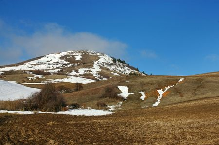 colfax: Steptoe Butte State Park, Inland Northwest.  On a sunny day in late winter Horizontal