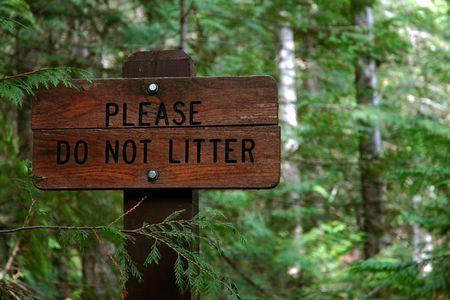 Sign - Please Do Not Litter photo