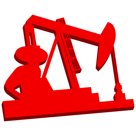 natural gas prices: 3D Oil Rig Icon