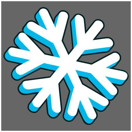 3d: 3D Snowflake