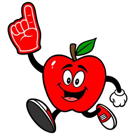 Apple Running with Foam Finger