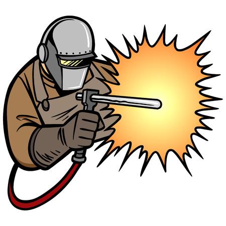 soldador: soldador de arco Vectores
