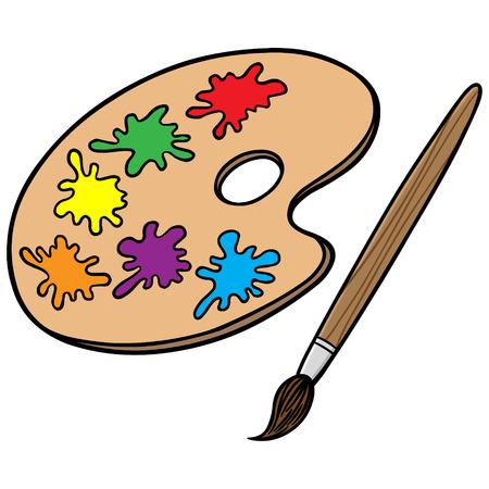 Art Brush and Pallete Ilustração