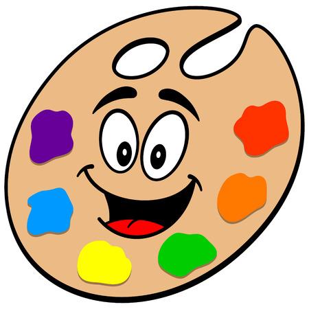 Art Palette Mascot Reklamní fotografie - 57143232