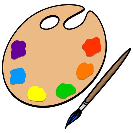 art palette: Art Palette and Brush