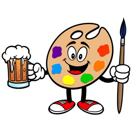 art palette: Art Palette with Beer