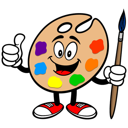art palette: Art Palette with Thumbs Up Illustration