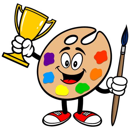 art palette: Art Palette with Trophy